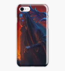 Woman with griffin iPhone Case/Skin
