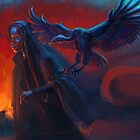 Woman with griffin by torysevas
