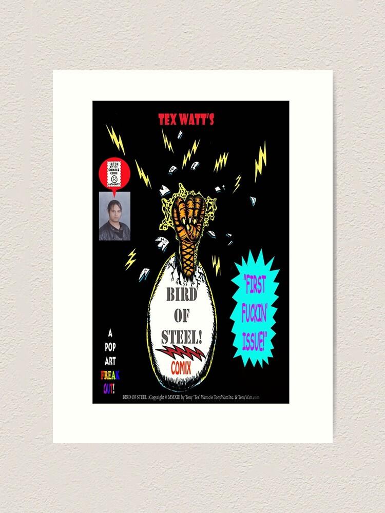 Alternate view of Bird of Steel Comix Cover - Red Bubble -NEW  UNDERGROUND POP ART SERIES! Art Print