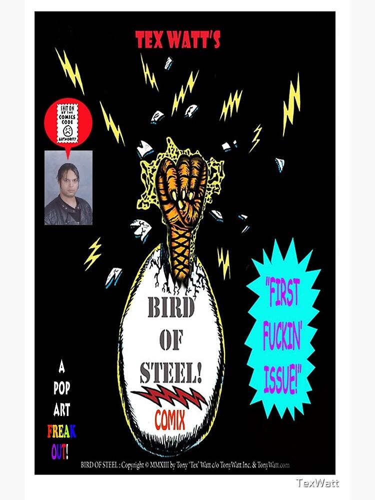 Bird of Steel Comix Cover - Red Bubble -NEW  UNDERGROUND POP ART SERIES! by TexWatt