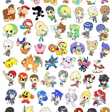 Super Smash Bros. All 58 Characters!  by SSBFighters