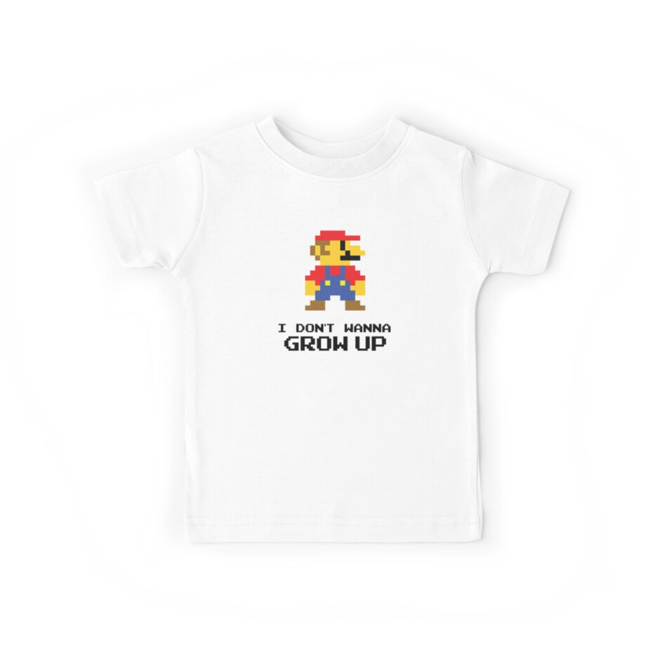 Mario - I Don't Wanna Grow Up by Candywrap Design