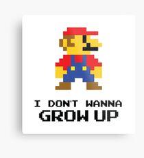 Mario - I Don't Wanna Grow Up Metal Print
