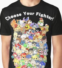 Super Smash Bros. All 58 Characters! Choose Your Fighter! Group Graphic T-Shirt