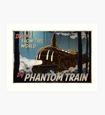 Final Fantasy VI - Come Ride the Phantom Train Art Print