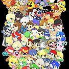 Super Smash Bros. All 58 Characters! Group by SSBFighters