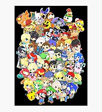 Super Smash Bros. All 58 Characters! Group Photographic Print