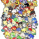 Super Smash Bros. All 58 Characters!! Group by SSBFighters