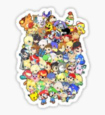 Super Smash Bros. All 58 Characters!! Group Sticker