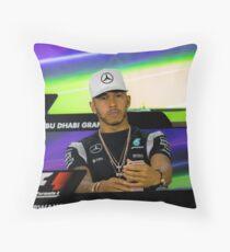 Lewis Hamilton Mercedes Formula 1 Throw Pillow