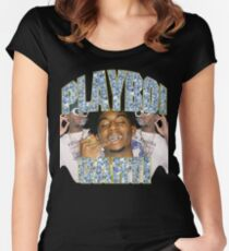 Playboi Carti Vintage Hip-Hop  Fitted Scoop T-Shirt
