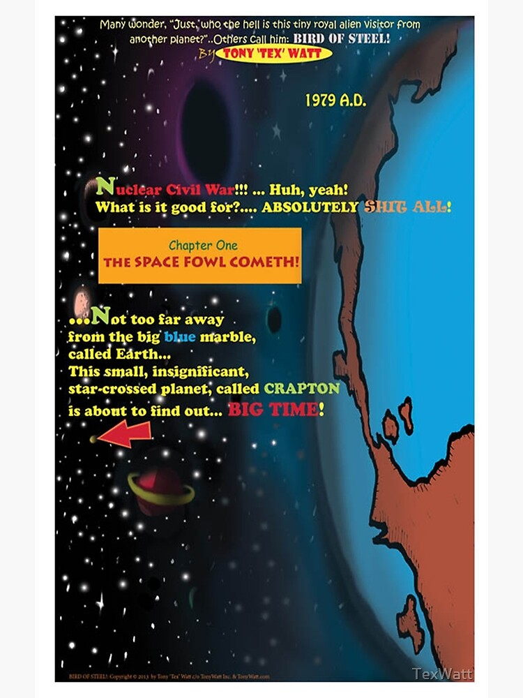 Bird of Steel Comix - Page #1 of 8 (Red Bubble POP-ART COLLECTION SERIES) by TexWatt