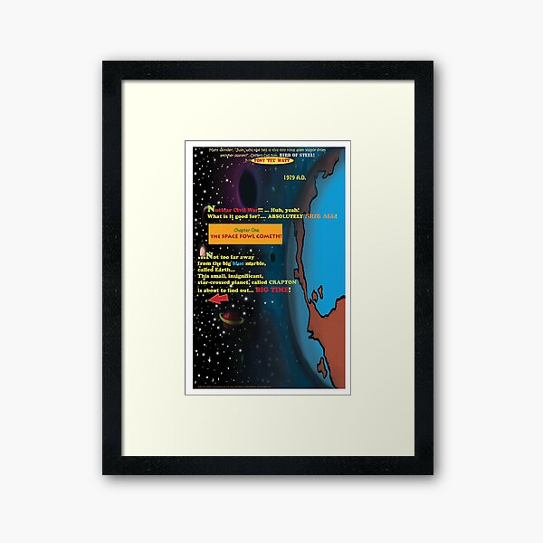 Bird of Steel Comix - Page #1 of 8 (Red Bubble POP-ART COLLECTION SERIES) Framed Art Print