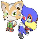 Super Smash Bros. Fox and Falco by SSBFighters