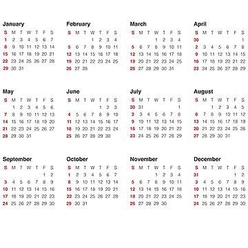 2017 Calendar by 1mp3x