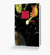 Bird of Steel Comix - Page #2-8 (Red Bubble POP-ART COLLECTION SERIES) Greeting Card