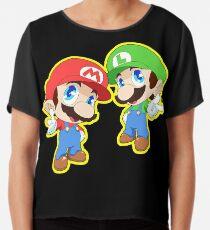 Super Smash Bros. Mario and Luigi! Chiffon Top