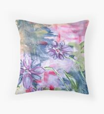 In a Field of Wildflowers Throw Pillow