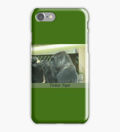 Ticker Tape iPhone Case/Skin