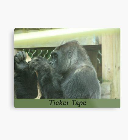Ticker Tape Metal Print