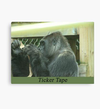 Ticker Tape Canvas Print