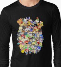 Super Smash Bros. All 58 Characters! Group Long Sleeve T-Shirt