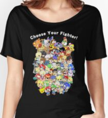 Super Smash Bros. All 58 Characters! Choose Your Fighter! Group Women's Relaxed Fit T-Shirt