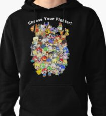 Super Smash Bros. All 58 Characters! Choose Your Fighter! Group Pullover Hoodie