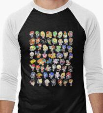 Super Smash Bros. All 58 Characters!  Men's Baseball ¾ T-Shirt