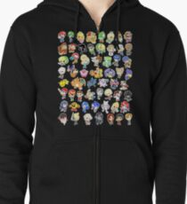Super Smash Bros. All 58 Characters!  Zipped Hoodie