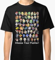 Super Smash Bros. All 58 Characters! Choose Your Fighter! Classic T-Shirt