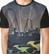 Final Fantasy VII Gold Saucer Travel Poster Graphic T-Shirt