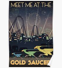 Final Fantasy VII Gold Saucer Travel Poster Poster