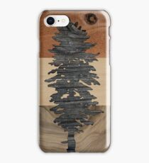 The Doug Flag in Wood iPhone Case/Skin