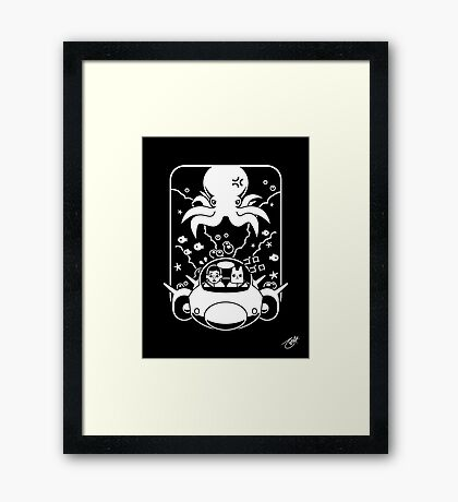 Christobelle Purrlumbus: Daring Deep Sea Dive Framed Print