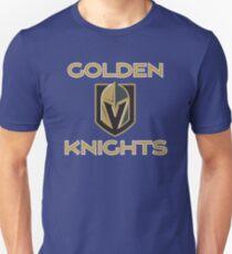 A Golden Vegas Sports Shirt Knight Emblem Tshirt Unisex T-Shirt