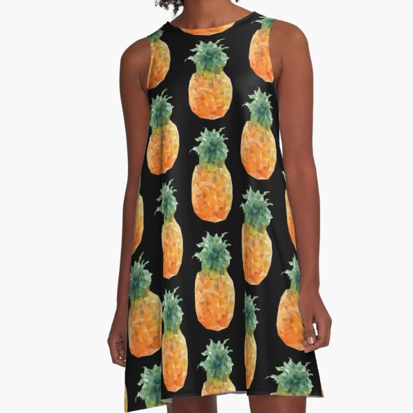 Pineapple Triangles A-Line Dress