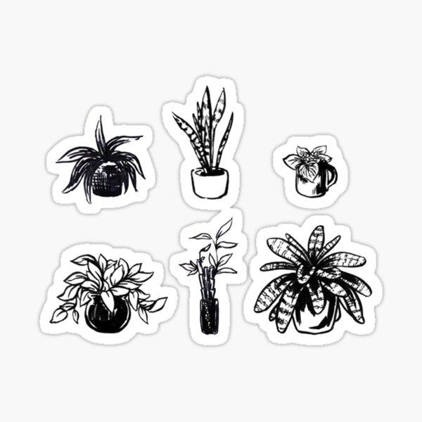 Assorted Houseplants Sticker