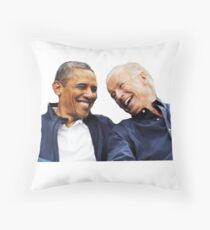 bff obama joe Throw Pillow