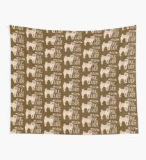 Crazy Pug Lady Wall Tapestry