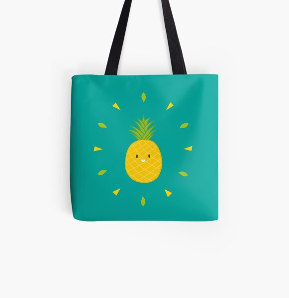 Shiny Pineapple Tote bag doublé