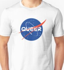 Queer - Nasa inspired logo Unisex T-Shirt