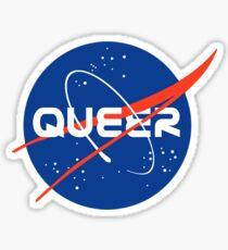Pegatina Queer - Logotipo inspirado en la Nasa