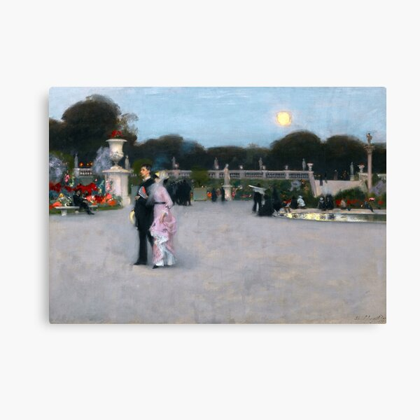 In the Luxembourg Gardens, 1879 by John Singer Sargent Canvas Print