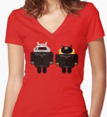 Dafdroid Women's Fitted V-Neck T-Shirt