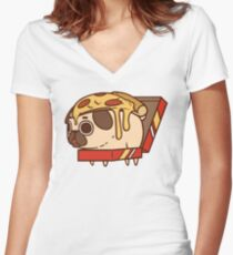 Puglie Pizza Women's Fitted V-Neck T-Shirt