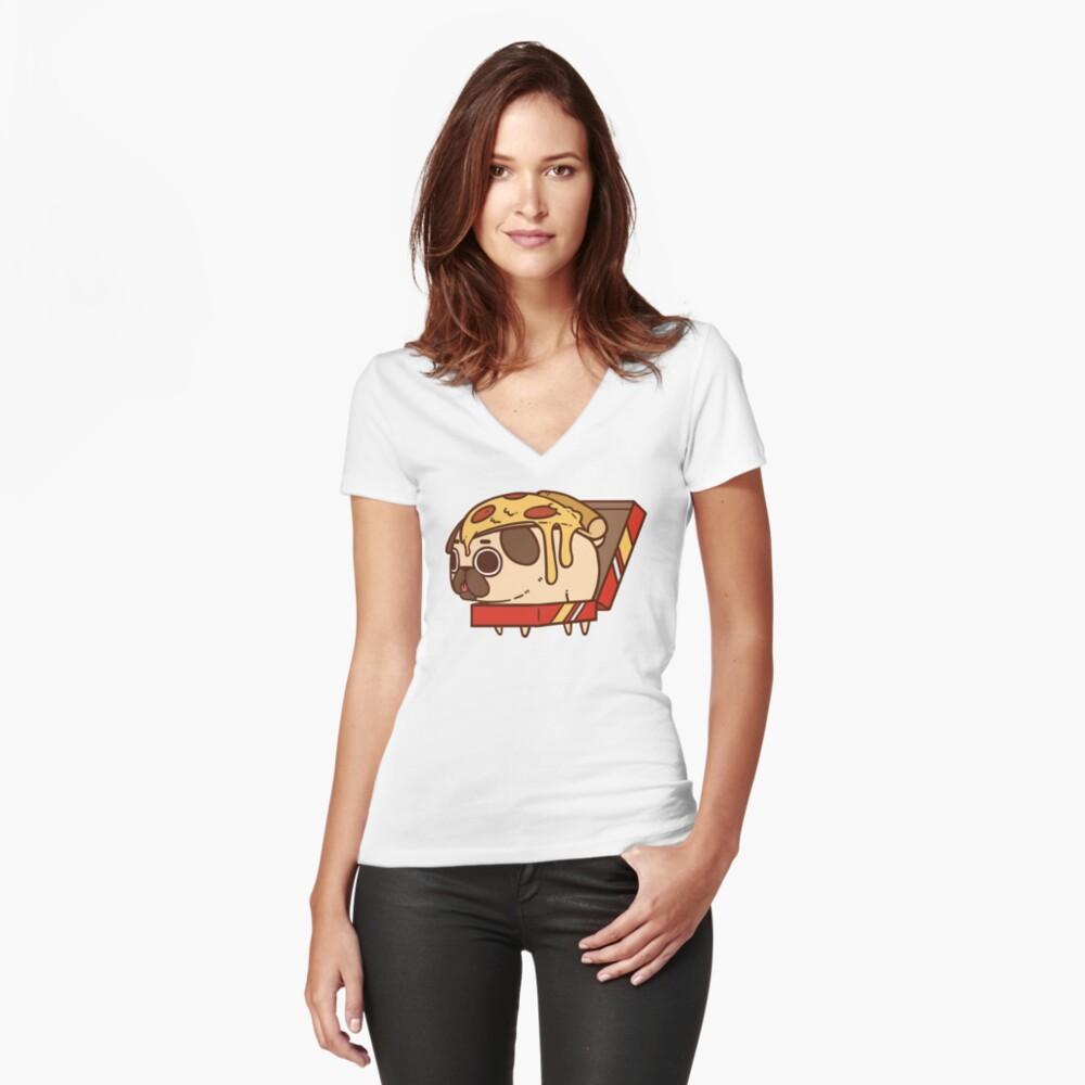 Camiseta entallada de cuello en VPuglie Pizza Delante