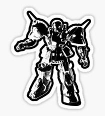 The Impossibles Self Titled Robot B&W Sticker