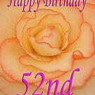 Happy 52nd Birthday Flower by martinspixs