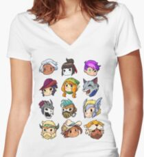 Brawlhalla Legends Set 2 of 2 Women's Fitted V-Neck T-Shirt